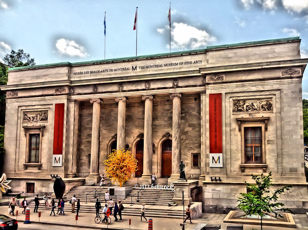 HDR photo of Michal and Renata Hornstein Pavilion at The Montreal Museum of Fine Arts