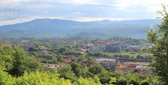 Panoramic view of Knin