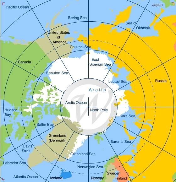 Map of Arctic