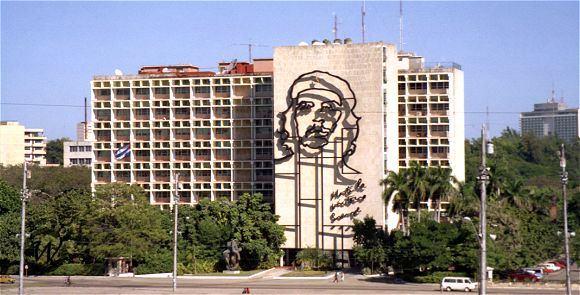 Ernesto Che Guevara's Mural on Plaza de la Revolution in Havana