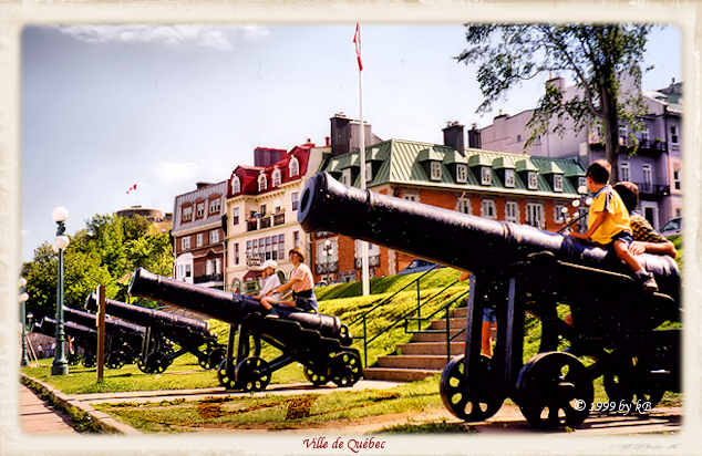 Cannons in Quebec city