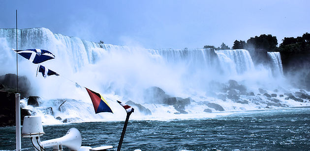 The Bridal Veil Falls and The American Falls, Niagara Falls