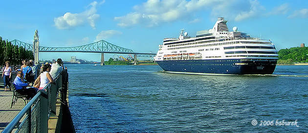 Cruise ship on Saint Lawrence River