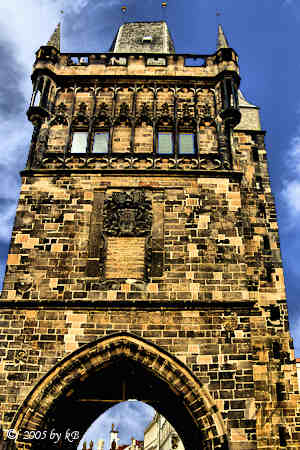 One of the Gothic towers in Prague