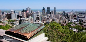 View on downtown Montreal from Mount Royal
