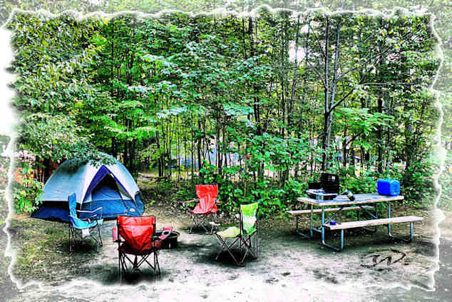 HDR camp site in Lake Placid campground