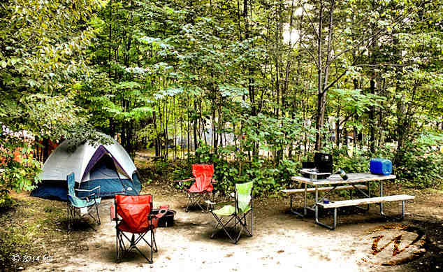 Lake Placid KOA campground