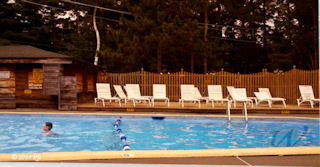 Swimming pool at Lake Placid KOA campground