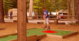 Mini golf at Lake Placid KOA campground