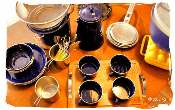 Camping equipment - pots and pans