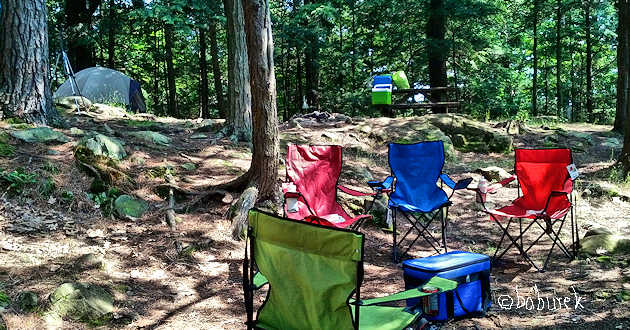 Campsite #113, Ivy Lea campground, Thousand Islands